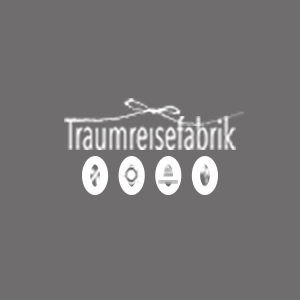 Traumreisefabrik Logo Weiß